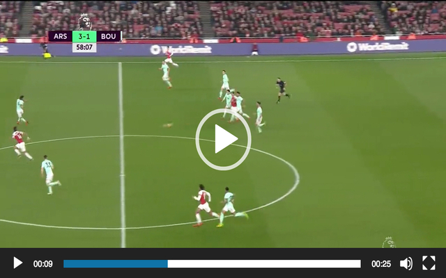 Video: Aubameyang scores classy goal for Arsenal