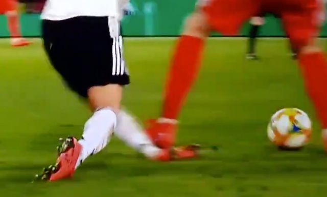 Video: Sane picks up injury after horrendous tackle from