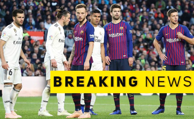 Barcelona's Sergi Roberto ruled out of El Clasico