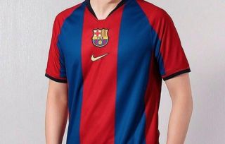 big sale 1842e cc2e2 Photo: Barcelona to wear special 1990's kit vs Real Madrid