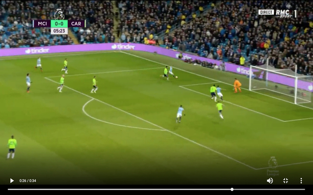 Video: City's De Bruyne scores from near impossible angle