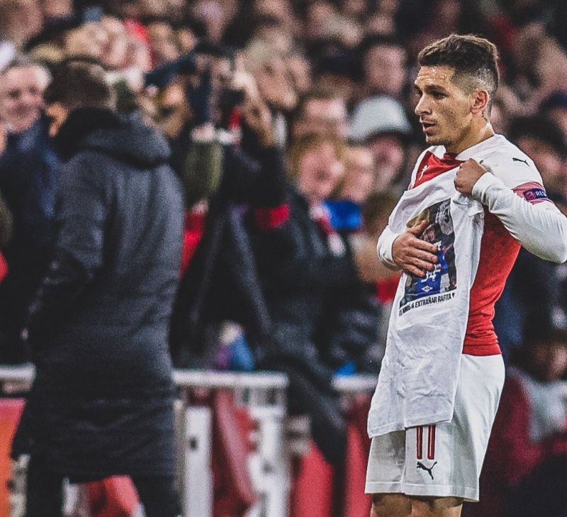 Classy Lucas Torreira Celebration Explained In Arsenal-Napoli