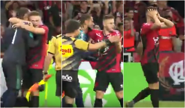 Brazilian Player Celebrates Penalty Shoot Out Win Too Early