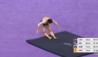 Samantha Cerio gymnast leg break video