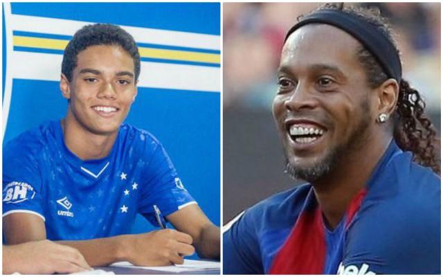 Ronaldinho son Joao Mendes signs Cruzeiro contract