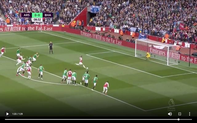 Video: Arsenal scores vs penalty, Aubameyang lead Brighton