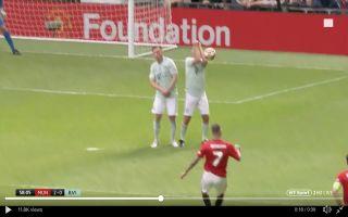 7ca28f85c59 Video  The hilarious way Bayern legend blocks David Beckham s free-kick  during United vs Bayern legends game · 1 day ago · Manchester United FC