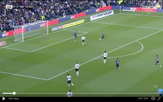 Video Kemar Roofe Fires Leeds Into The Lead Vs Derby