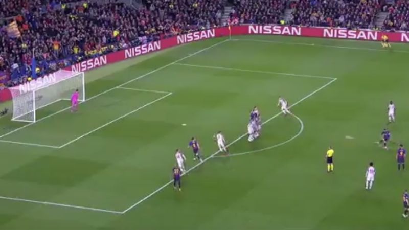 messi free kick goal video vs liverpool