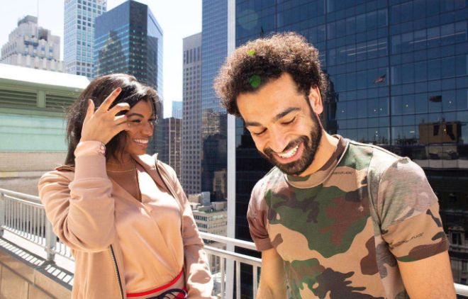 Mohamed Salah With Lady Who Looks Like Marcus Rashford