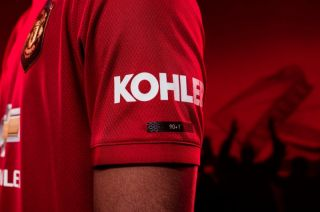promo code bae64 7e805 Man United fans react to Champions League reference on kit