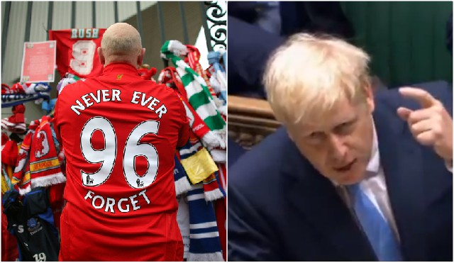 Boris Johnson offends Liverpool fans video