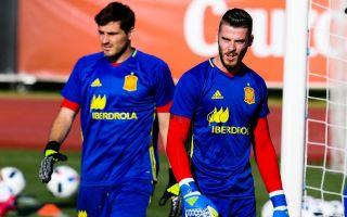low priced b34ea 7574b Iker Casillas snubs Manchester United star David de Gea to ...