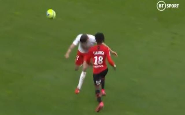Brutal challenge from Briancon on Camavinga red card