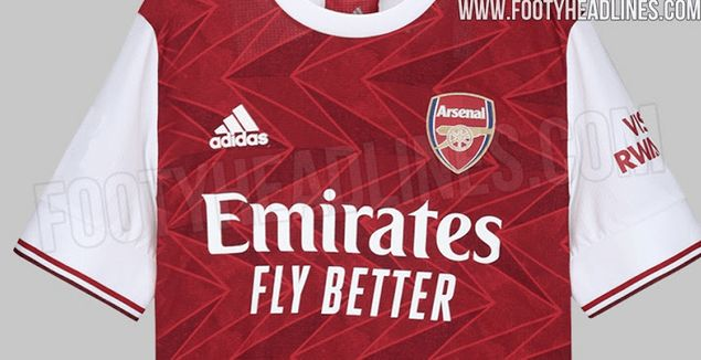 Photo Latest Pictures Of Arsenal S New 2020 21 Home Kit