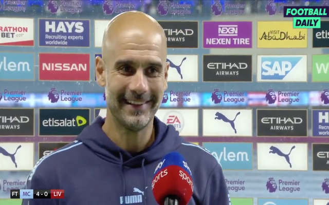 Video-pep-guardiola-jokes-about-liverpool-players