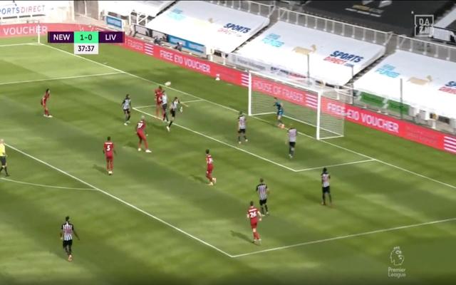 Video Virgil Van Dijk Scores Header For Liverpool Vs Newcastle