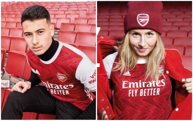 Arsenal 2020 21 Home Kit Leaked Aubameyang In Pictures