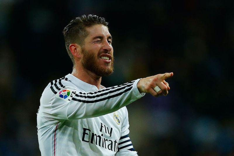 Sergio Ramos winks