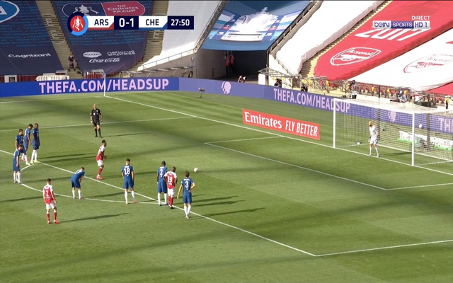 Aubameyang scores in final for Arsenal vs Chelsea