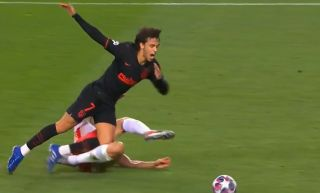 Joao Felix penalty Atletico Madrid vs Leipzig