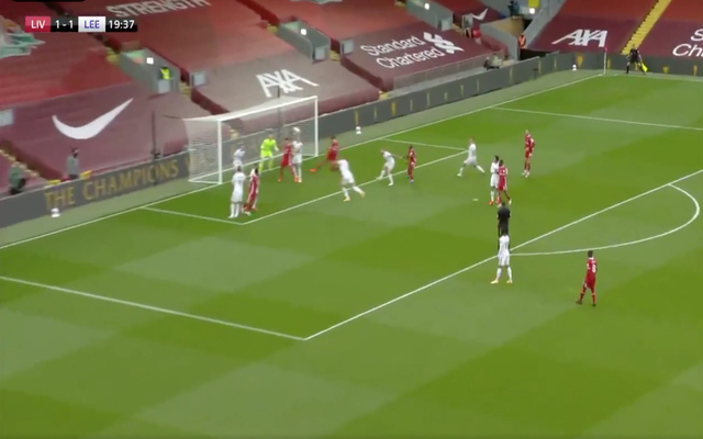 Video Van Dijk Scores Towering Header For Liverpool Vs Leeds