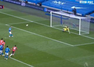 Cheeky Neal Maupay penalty Brighton vs Man United