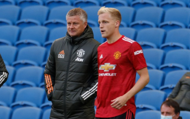 Van de Beek agent slams Man United and Solskjaer