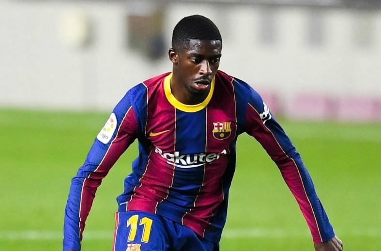 dembele new barcelona kit