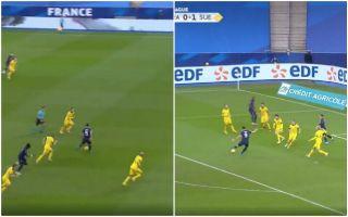 Video Giroud scores for France vs Sweden