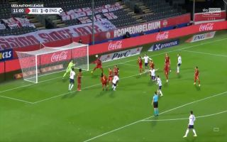 Video Lukaku clears Harry Kane header away for Beligum vs England