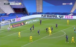 Video Sweden make it 1 0 against France