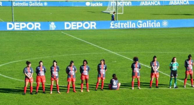 Spanish female player turns back on Diego Maradona tribute
