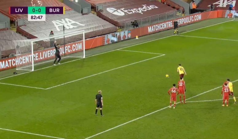 Barnes goal video Burnley vs Liverpool