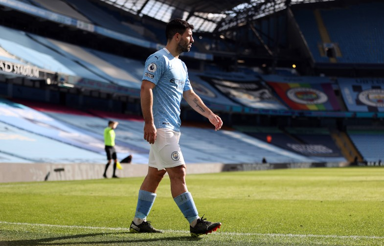 Aguero at the Etihad Stadium, Manchester