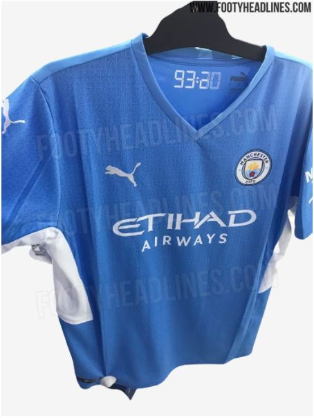 Man City 2021 22 Home Kit With Aguero Tribute