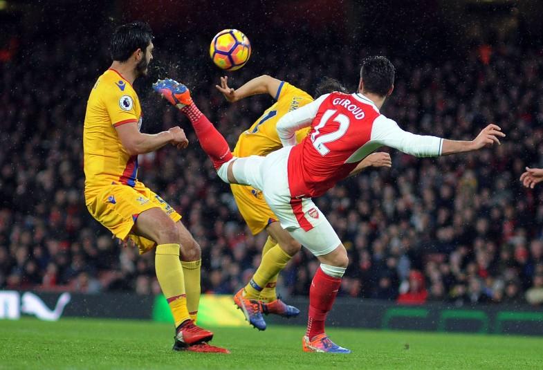 Giroud scorpion kick Arsenal Palace