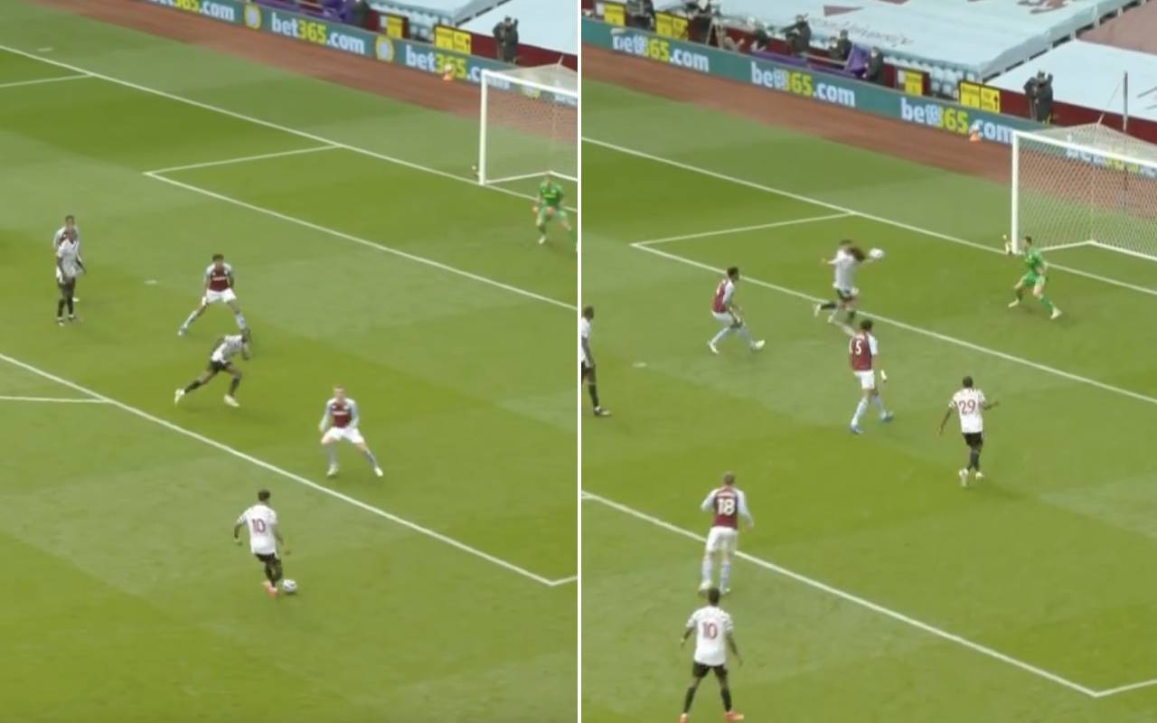 Video: Edinson Cavani heads home to continue Manchester United purple patch after brilliant Marcus Rashford delivery
