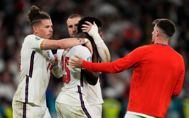 Luke Shaw sends message to Bukayo Saka after penalty miss