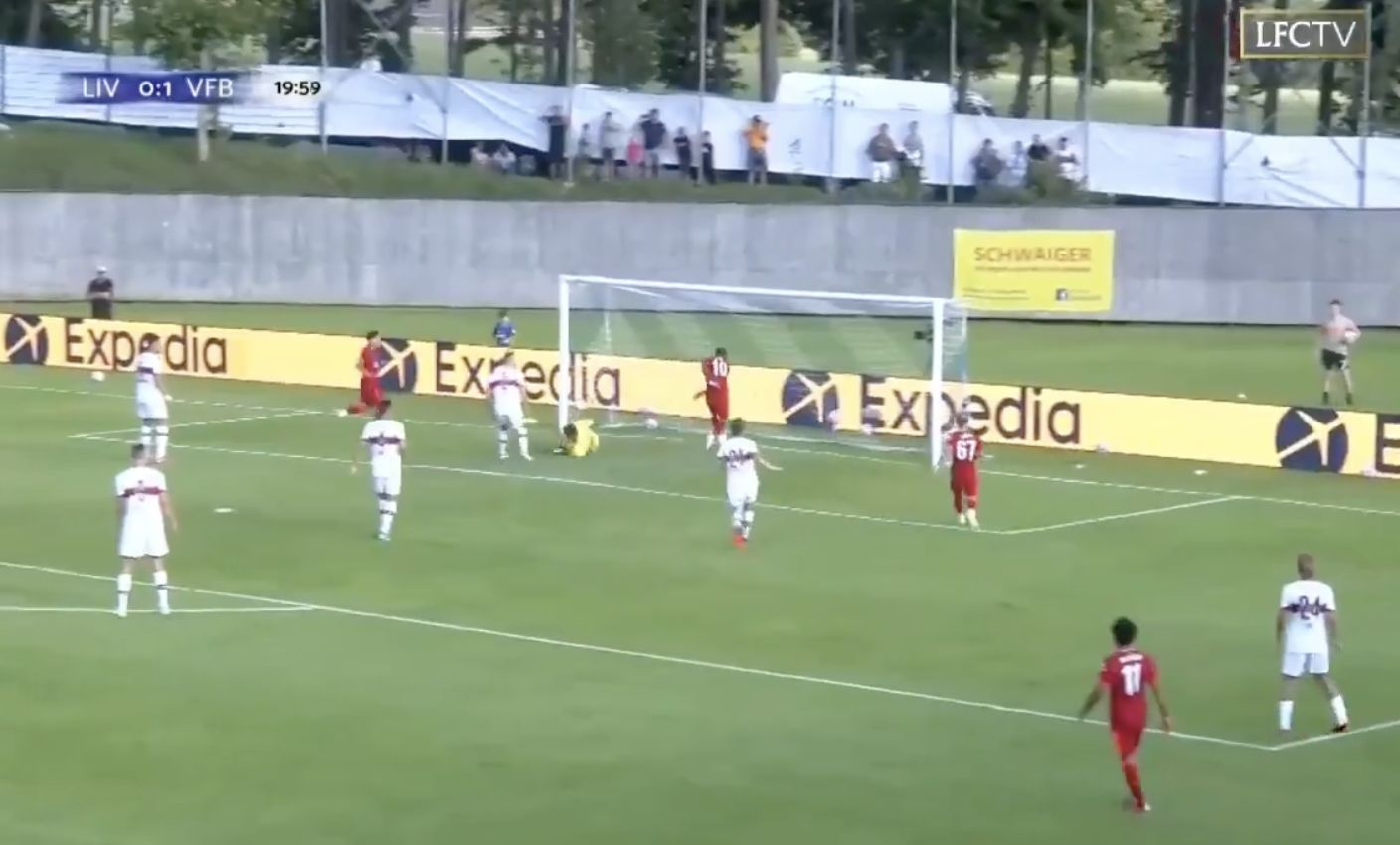 Video: Mane with the close-range finish to equalise for Liverpool against Stuttgart