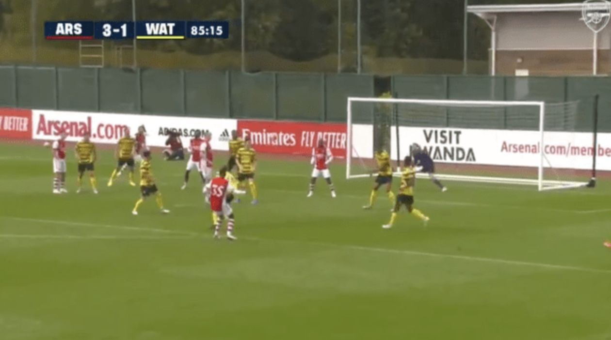 Video: Miguel Azeez curls sweet strike from outside the box beyond Watford's keeper to extend