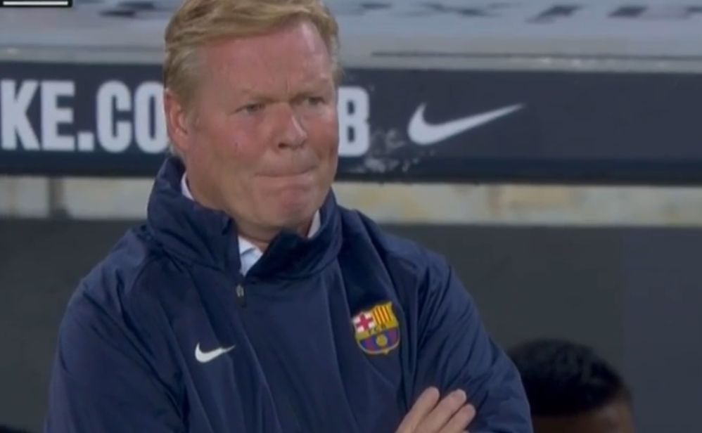 Video: Koeman may be on the verge of the sack as Granada stun Barca with a goal after two
